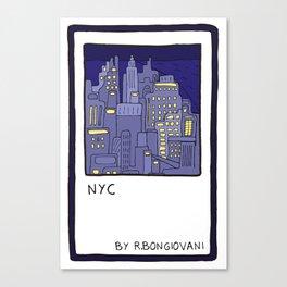 NEW YORK Card Canvas Print
