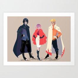 Team Capes Art Print