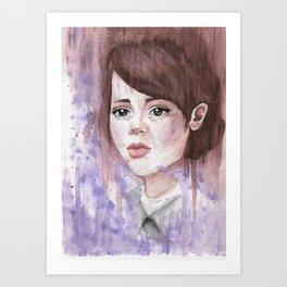 Watercolor Emily Caldwin / Dishonored Art Print