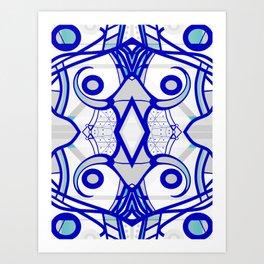 Blue morning - abstract decorative pattern Art Print