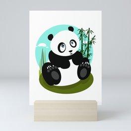 Baby Panda Mini Art Print