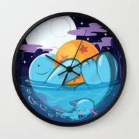 dragonball Wall Clocks featuring Quagsire & Dragonball by Valechu