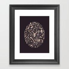 Buried Bones Framed Art Print
