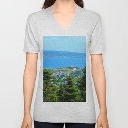 Bonaventure Island panoramic Unisex V-Neck