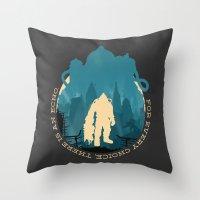 bioshock Throw Pillows featuring Bioshock 2 by Bill Pyle