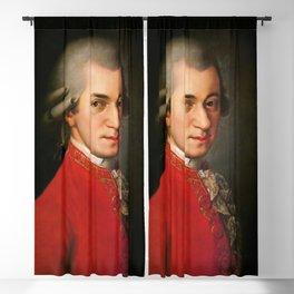 Wolfgang Amadeus Mozart (1756 -1791) by Barbara Krafft (1819) Blackout Curtain