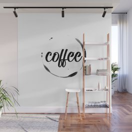 coffee stained Wall Mural