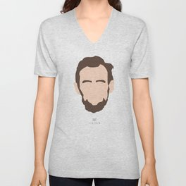 Faces Series: Lincoln Unisex V-Neck