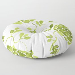 green zinnias by cocoblue Floor Pillow