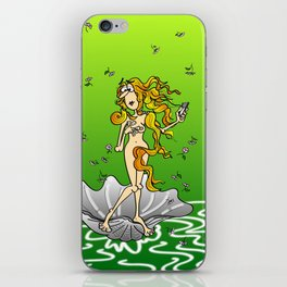 Birth of Venus and her cell phone iPhone Skin