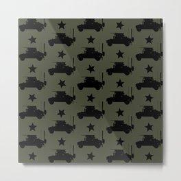 U.S. Military: HMMWV Humvee Pattern Metal Print