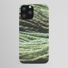 Colorful Handspun Yarn Green iPhone Case