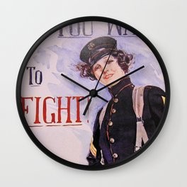 Military Poster Wall Clock