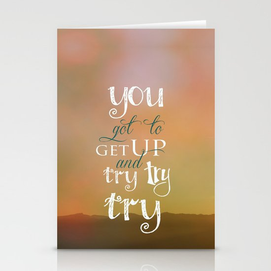 MOTIVATIONAL QUOTE Stationery Cards