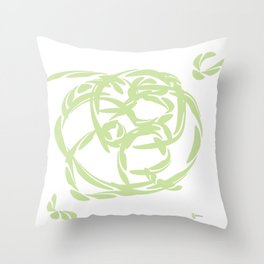PALE JADE: Gentle Harmony and Balance Throw Pillow