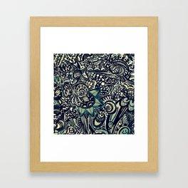 Black with a Tinge of Green Framed Art Print