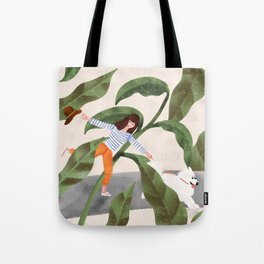Going On A Walk Tote Bag