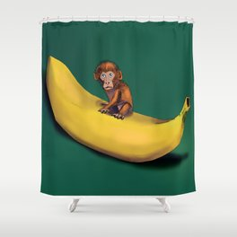 Stop Being Greedy Shower Curtain