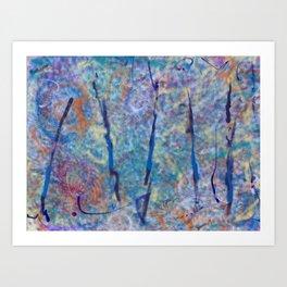 Blue Poles 90 Art Print