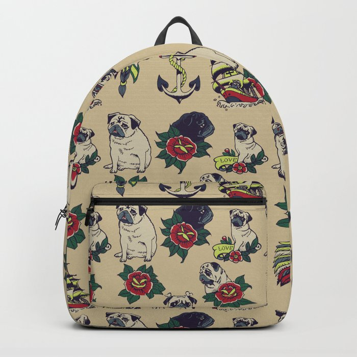 Pugs and the sea Backpack