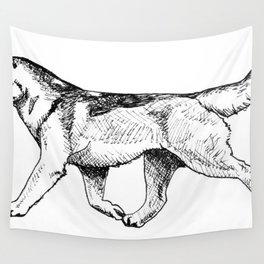 Male Siberian Husky Wall Tapestry
