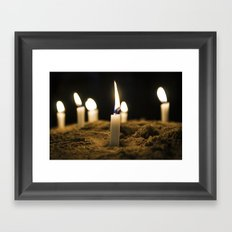 Candle in the Wind Framed Art Print