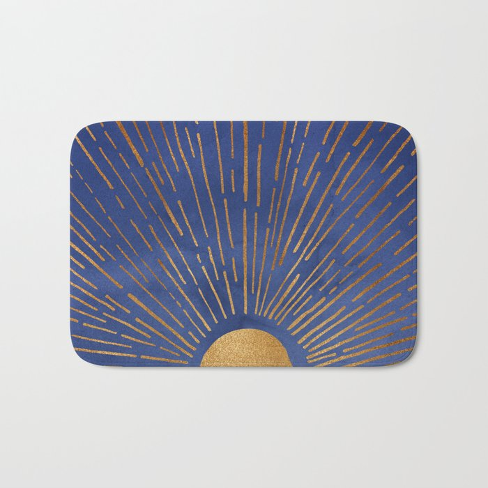 Twilight / Blue and Metallic Gold Palette Badematte