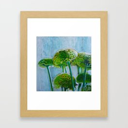 Green mums Framed Art Print