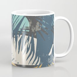 ABSTRACT TROPICAL SUNSET with palm leaves Coffee Mug