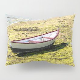 Boat stranded at low tide Pillow Sham