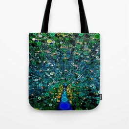 :: Peacock Caper :: Tote Bag