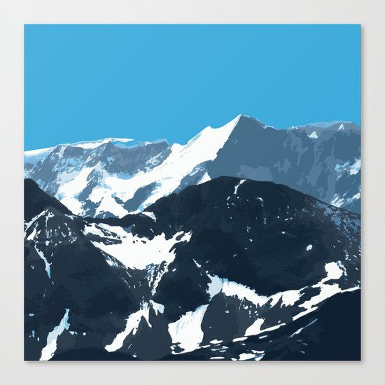 swiss mountains Canvas Print