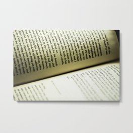 Kerouac Soulshine in Letters Metal Print