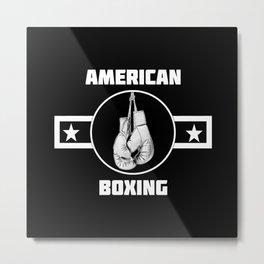American Boxing Metal Print