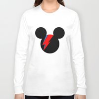 david bowie Long Sleeve T-shirts featuring David Bowie Mouse by Ricardo Silvestre