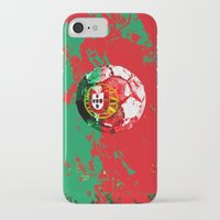 portugal iPhone & iPod Cases featuring football Portugal  by seb mcnulty