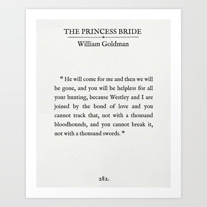 Book Page - The Princess Bride \