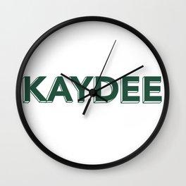 Kaydee Lettering Wall Clock
