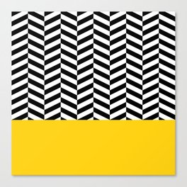 Black&Yellow Canvas Print