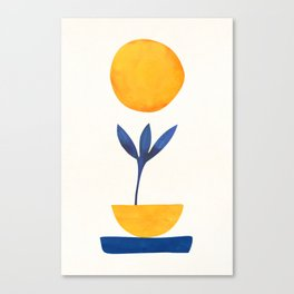 Sunny Sprout / Abstract Shapes Canvas Print
