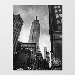 Empire State Building Near Dusk Canvas Print