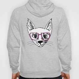 geek cool cat Hoody