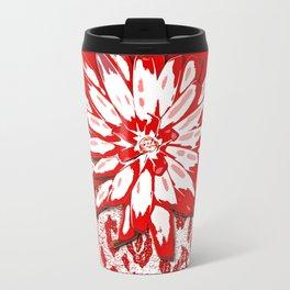 Animal Print Red and White Abstract Travel Mug