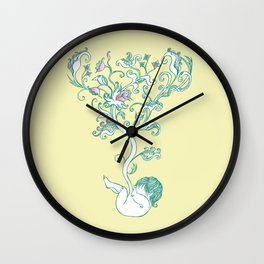 natue children Wall Clock