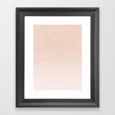 Ombre - in Peach Framed Art Print
