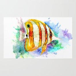 Coral Aquarium Fish, Angelfish Rug