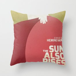 The sun also rises, Fiesta, Ernest Hemingway, classic book cover Throw Pillow