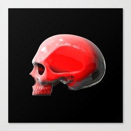 Reflective White Skull Canvas Print