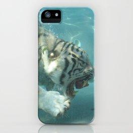 White Bengal Tiger iPhone Case