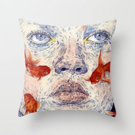 SWIMMERS Throw Pillow